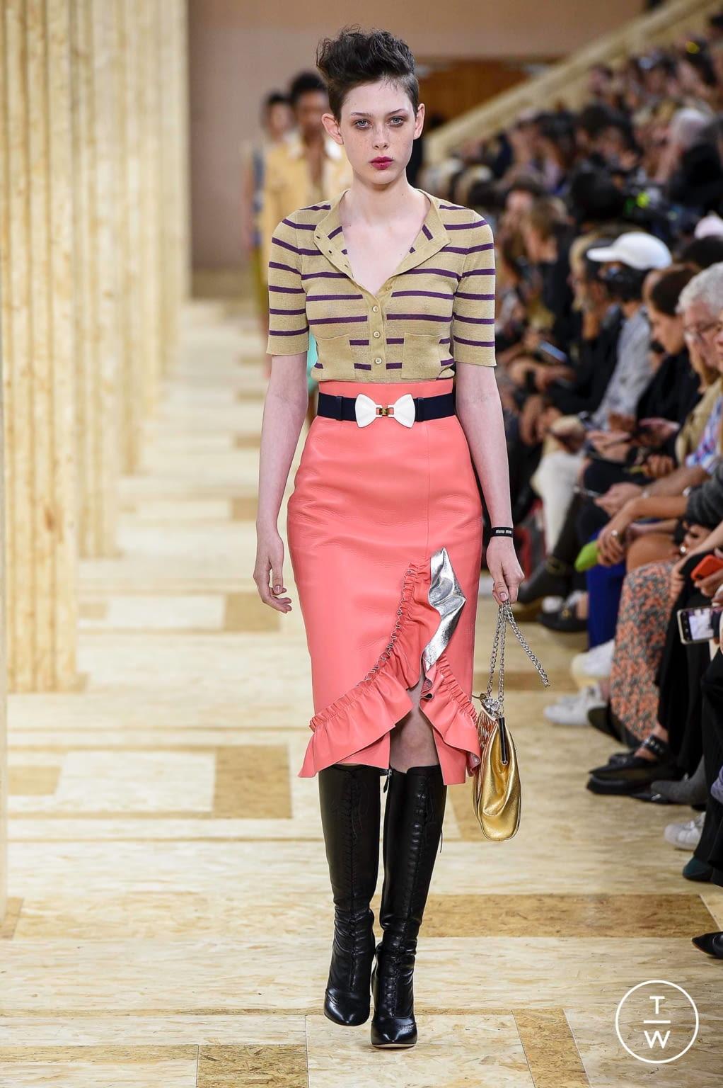 Fashion Week Paris Spring/Summer 2020 look 28 from the Miu Miu collection womenswear