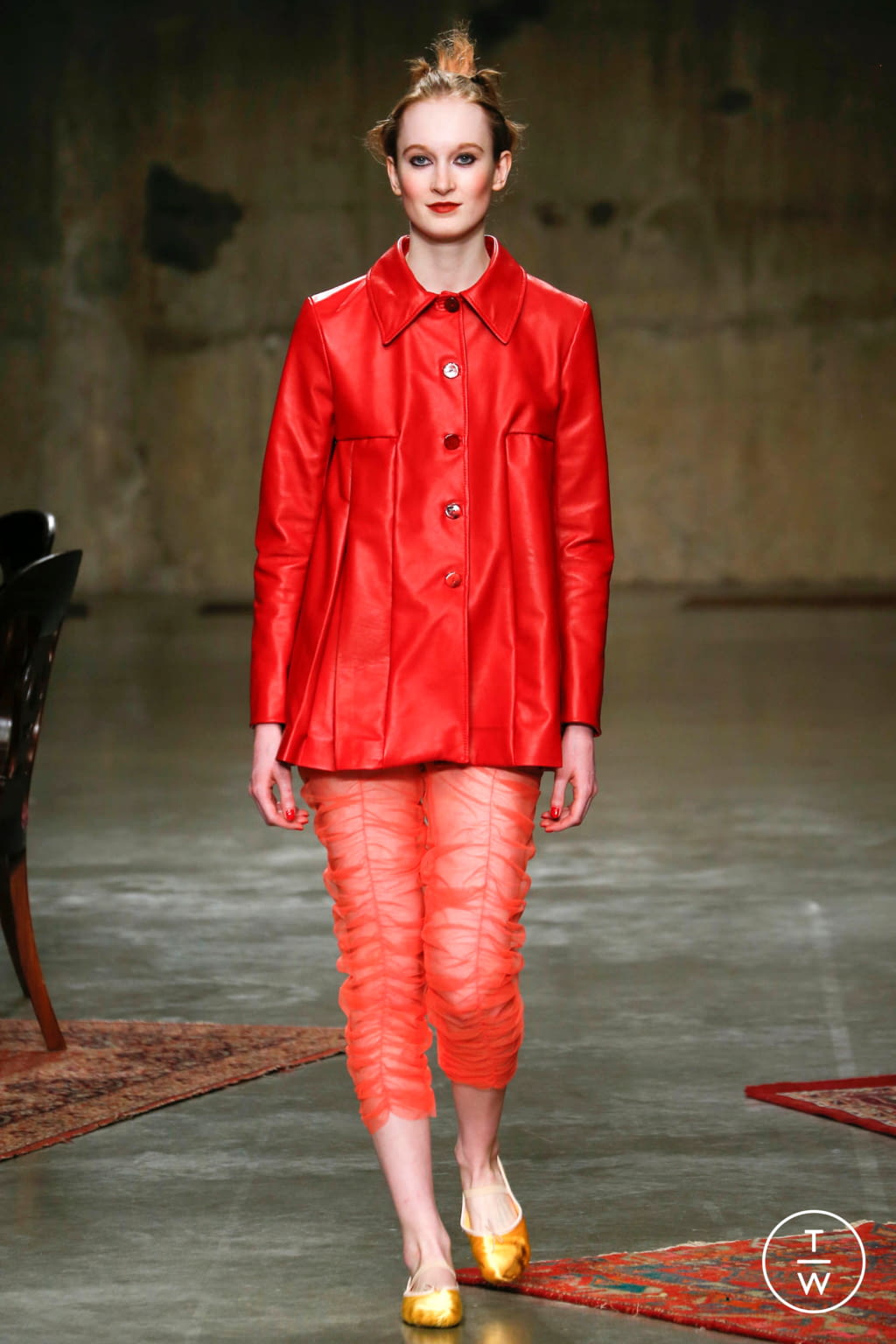 Fashion Week London Fall/Winter 2017 look 5 from the Molly Goddard collection womenswear
