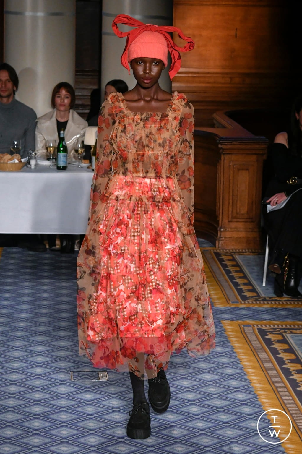 Fashion Week London Fall/Winter 2020 look 17 from the Molly Goddard collection womenswear