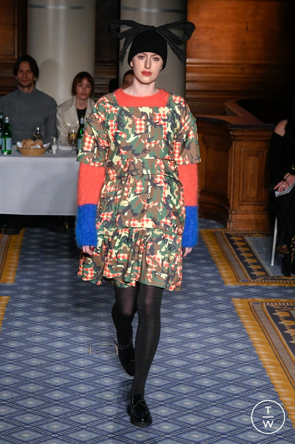 Fashion Week London Fall/Winter 2020 look 21 from the Molly Goddard collection womenswear