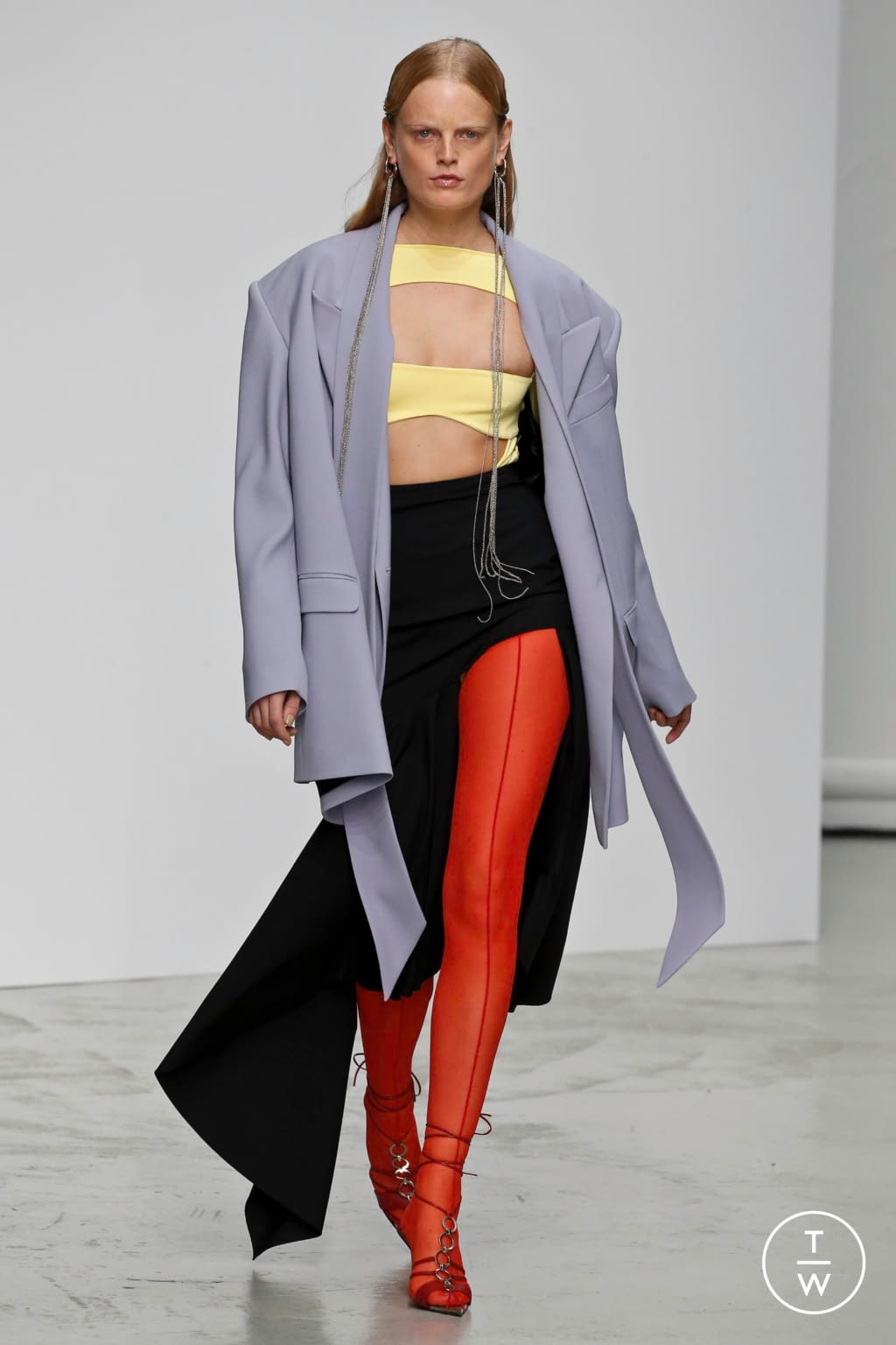 Fashion Week Paris Spring/Summer 2020 look 12 from the Mugler collection womenswear