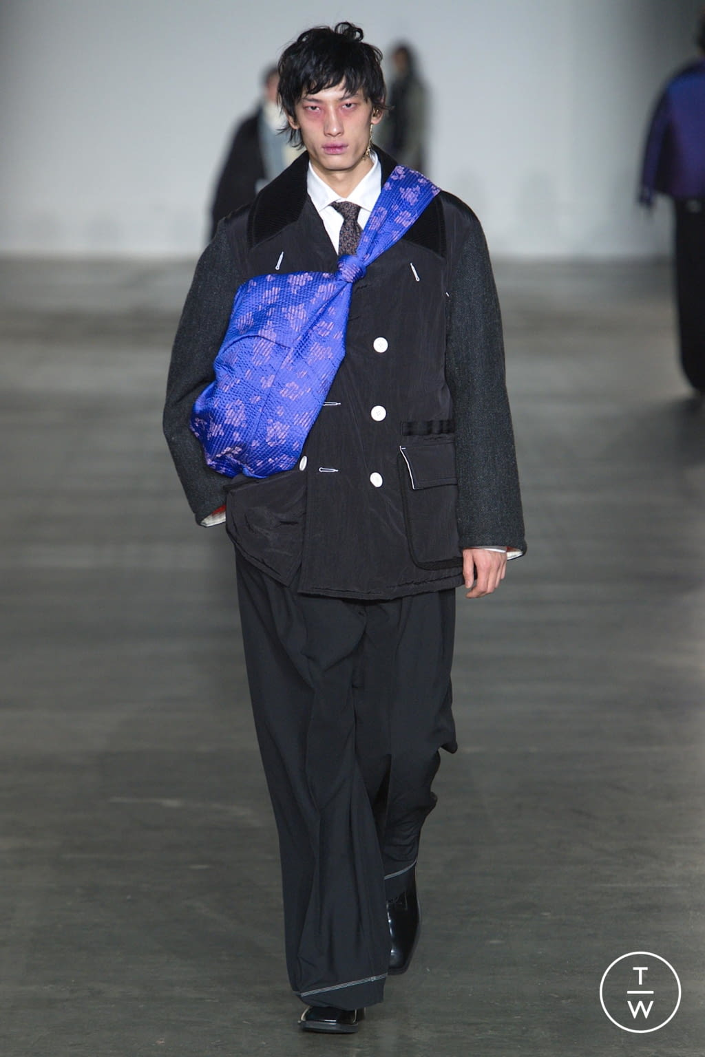 Fashion Week London Fall/Winter 2020 look 27 from the Munn collection menswear