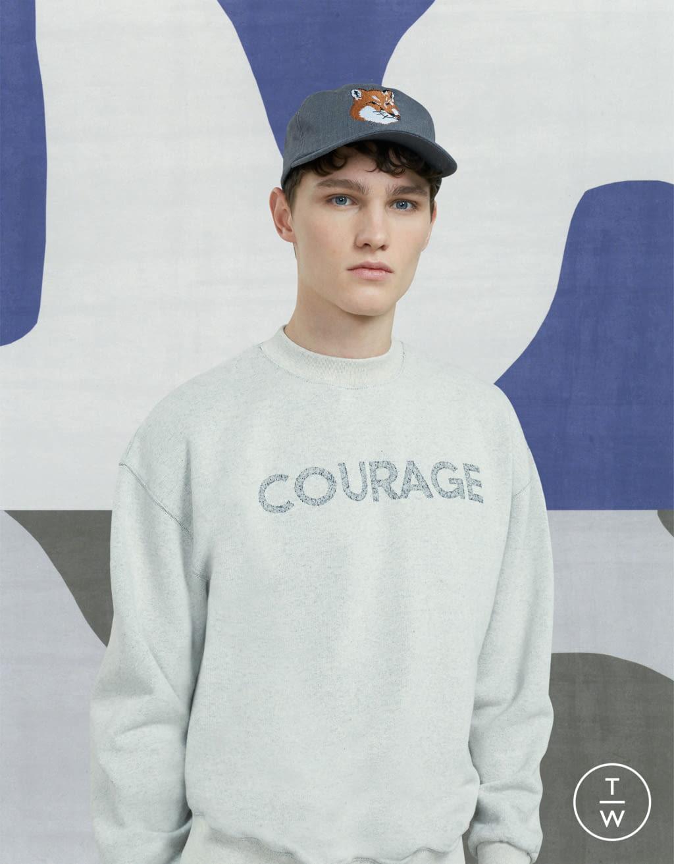 Fashion Week Paris Fall/Winter 2017 look 6 de la collection Maison Kitsuné menswear
