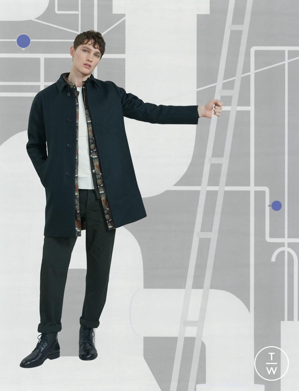 Fashion Week Paris Fall/Winter 2017 look 8 de la collection Maison Kitsuné menswear