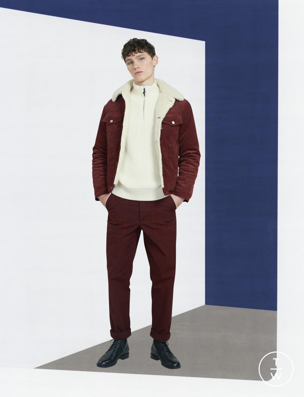 Fashion Week Paris Fall/Winter 2017 look 18 de la collection Maison Kitsuné menswear