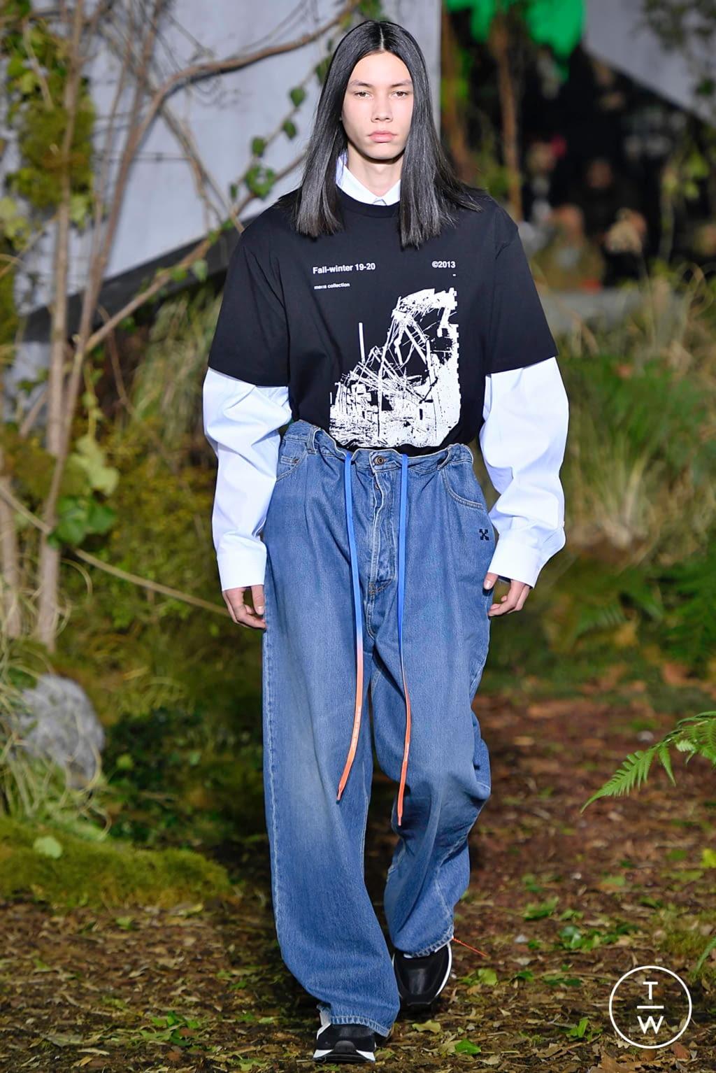 Fashion Week Paris Fall/Winter 2019 look 4 de la collection Off-White menswear