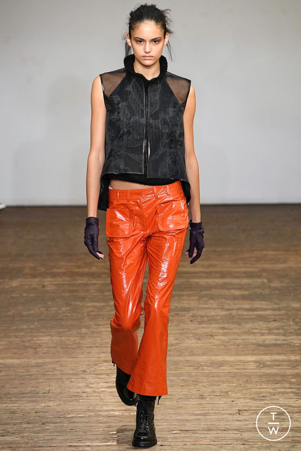 Fashion Week Paris Spring/Summer 2019 look 14 from the Olivier Theyskens collection 女装