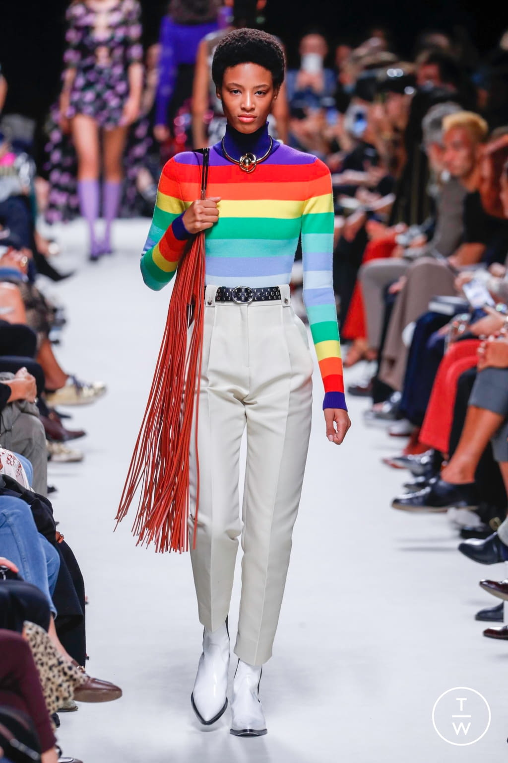 Fashion Week Paris Spring/Summer 2020 look 14 from the Paco Rabanne collection womenswear