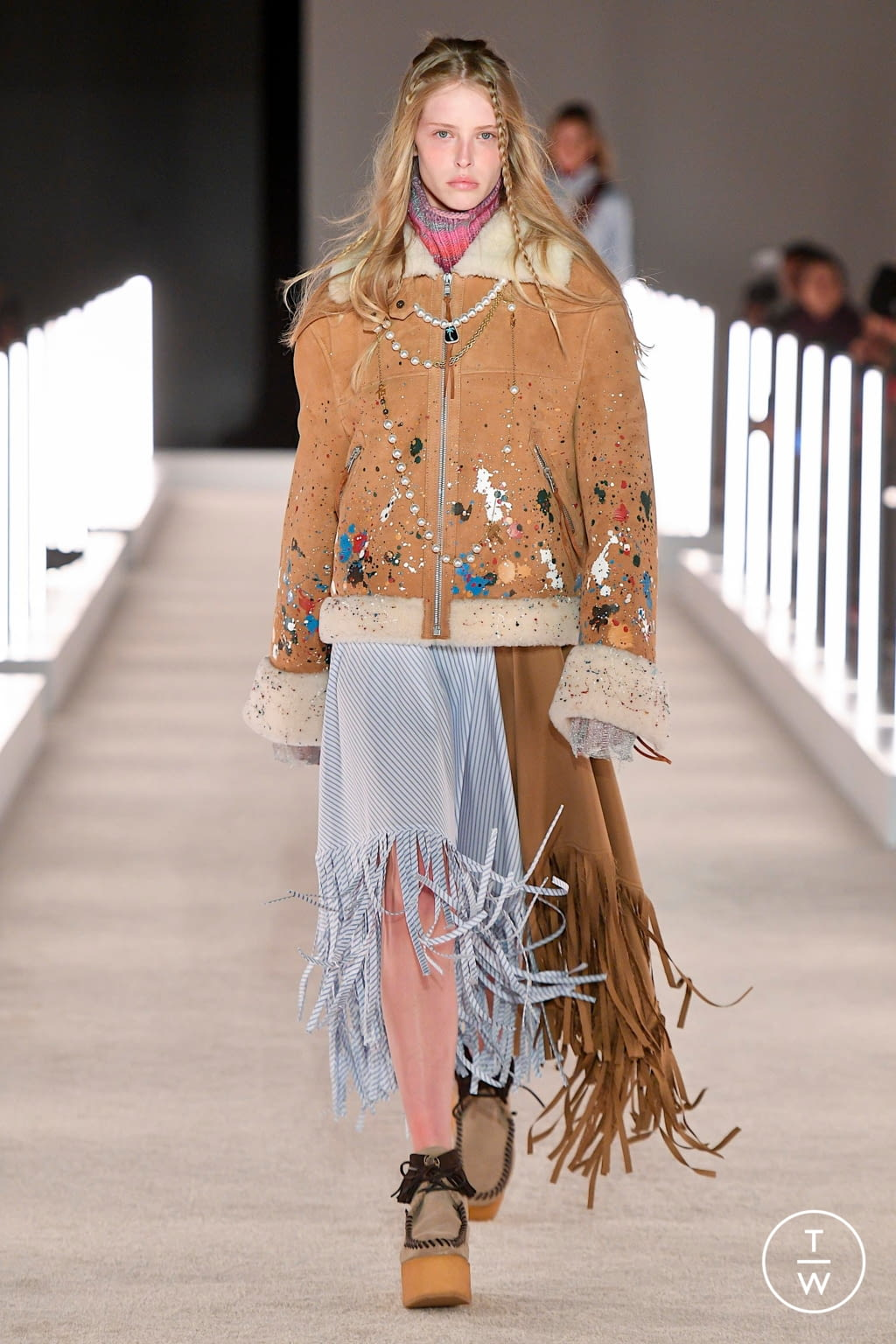 Fashion Week New York Fall/Winter 2020 look 1 from the Palm Angels collection womenswear