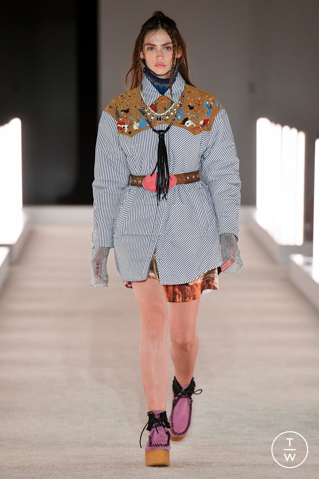 Fashion Week New York Fall/Winter 2020 look 3 from the Palm Angels collection womenswear