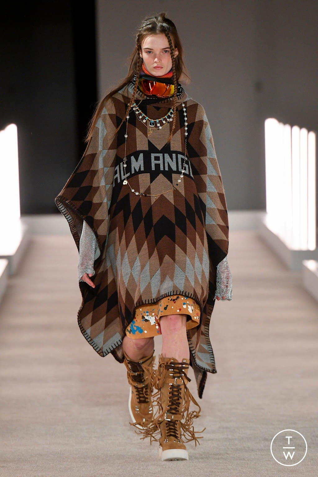 Fashion Week New York Fall/Winter 2020 look 9 from the Palm Angels collection womenswear