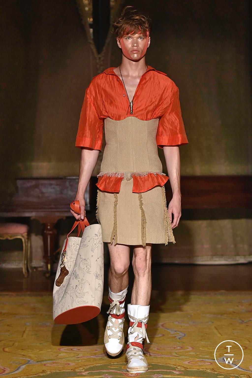 Fashion Week Paris Spring/Summer 2020 look 4 from the Palomo Spain collection menswear