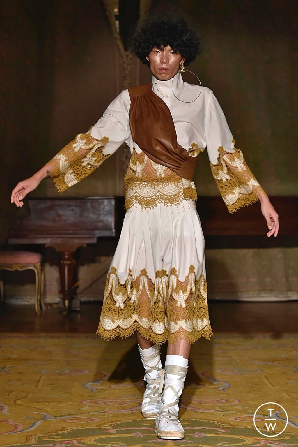 Fashion Week Paris Spring/Summer 2020 look 6 from the Palomo Spain collection menswear