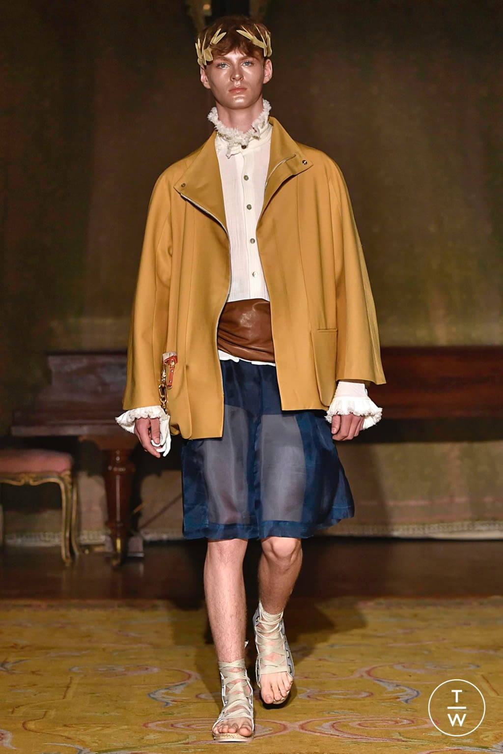 Fashion Week Paris Spring/Summer 2020 look 7 from the Palomo Spain collection menswear