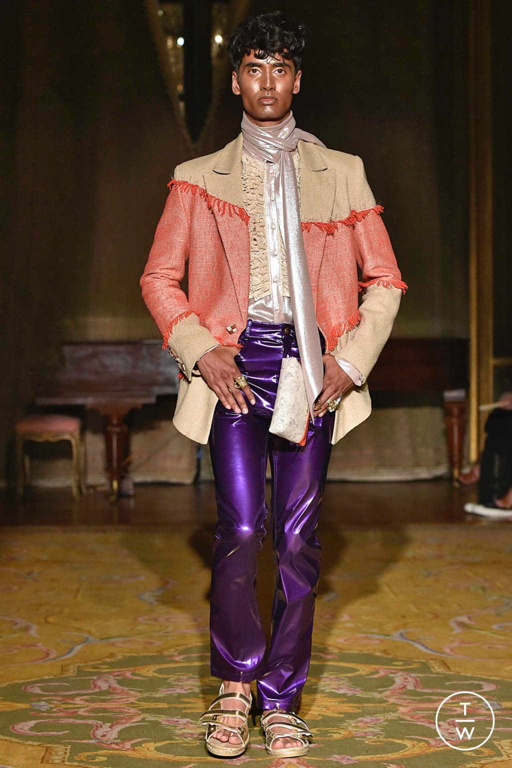 Fashion Week Paris Spring/Summer 2020 look 9 from the Palomo Spain collection menswear