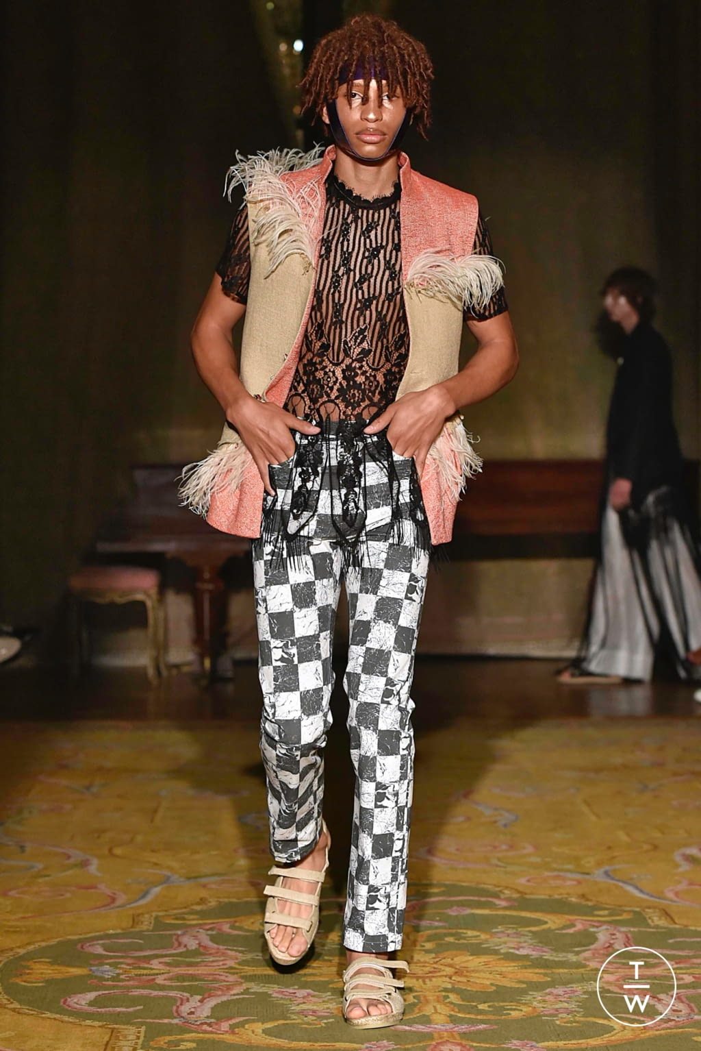 Fashion Week Paris Spring/Summer 2020 look 11 from the Palomo Spain collection menswear