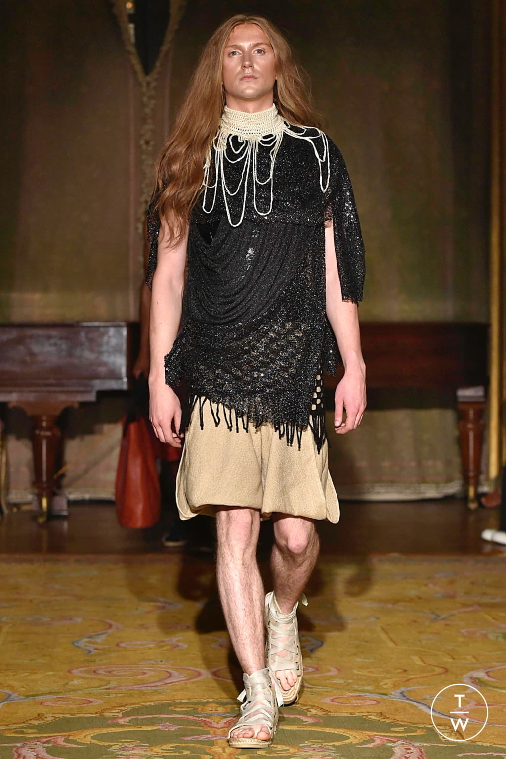 Fashion Week Paris Spring/Summer 2020 look 20 from the Palomo Spain collection menswear