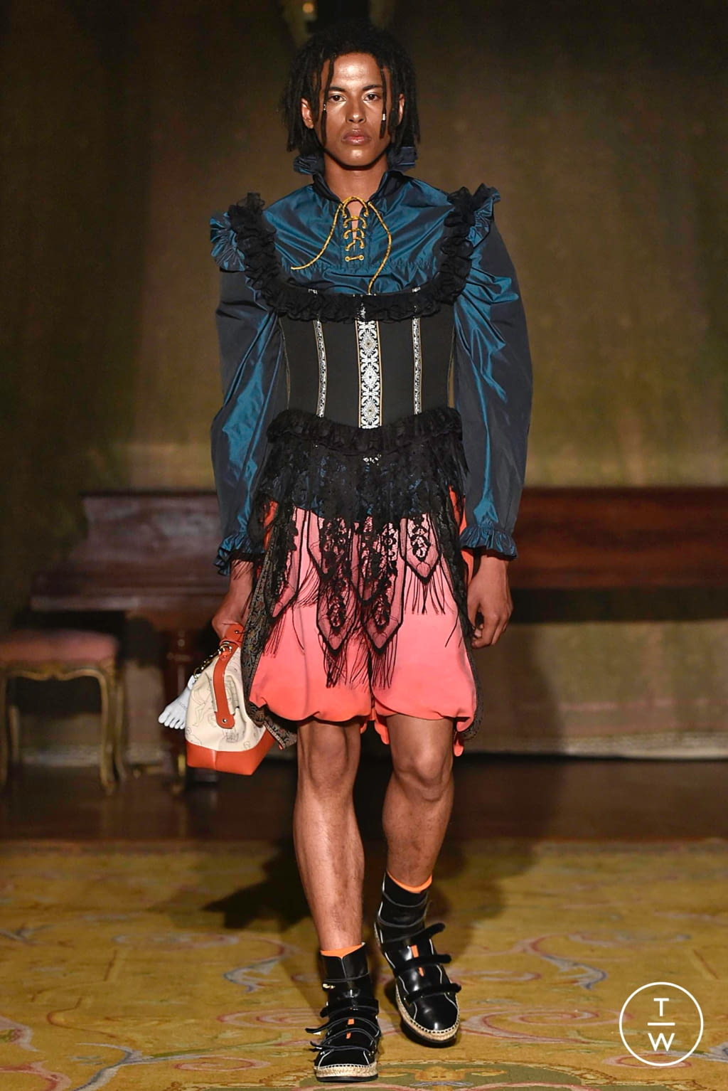 Fashion Week Paris Spring/Summer 2020 look 22 from the Palomo Spain collection menswear