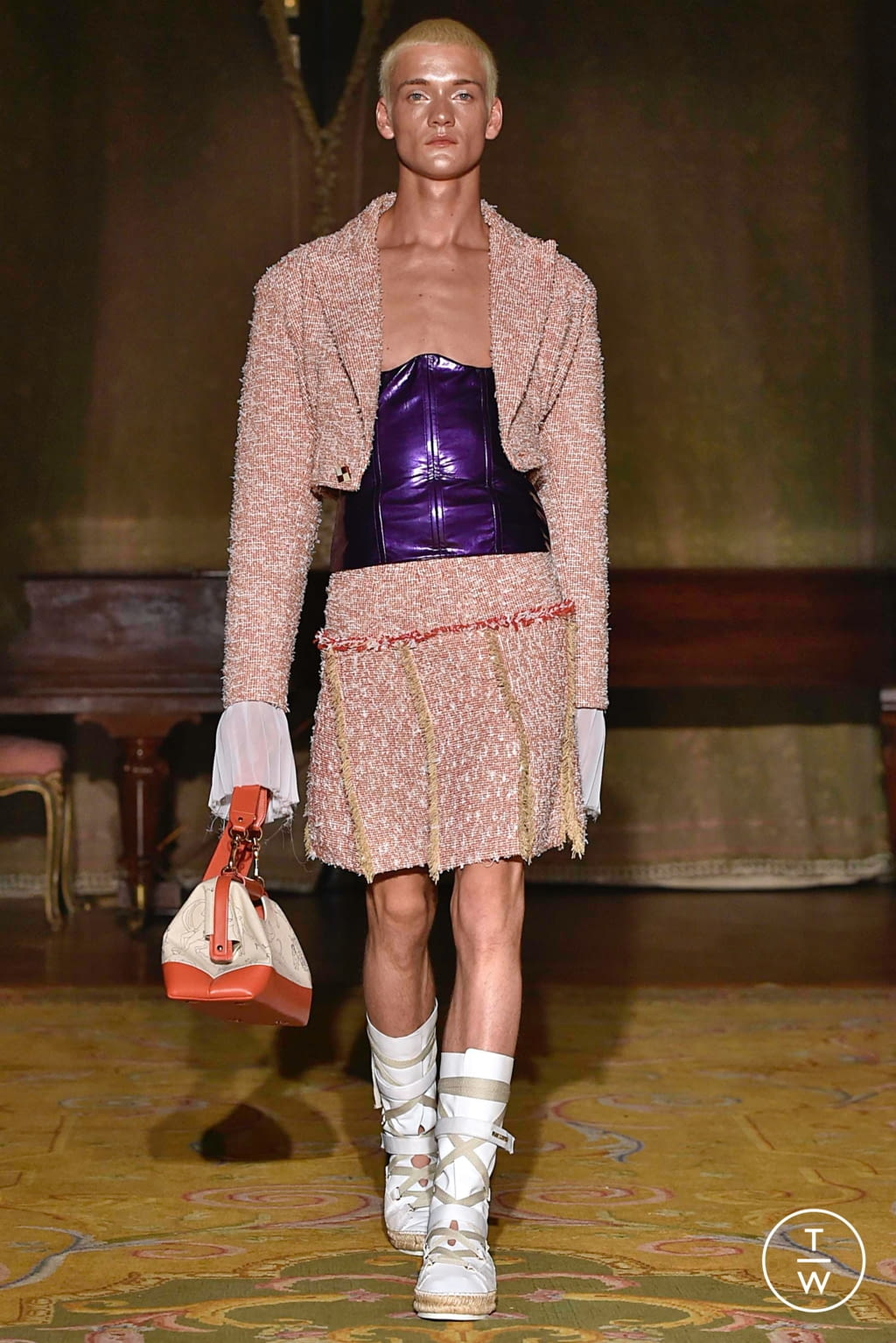 Fashion Week Paris Spring/Summer 2020 look 23 from the Palomo Spain collection menswear