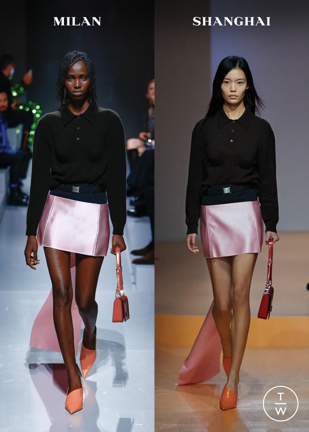 Fashion Week Milan Spring/Summer 2022 look 4 from the Prada collection womenswear