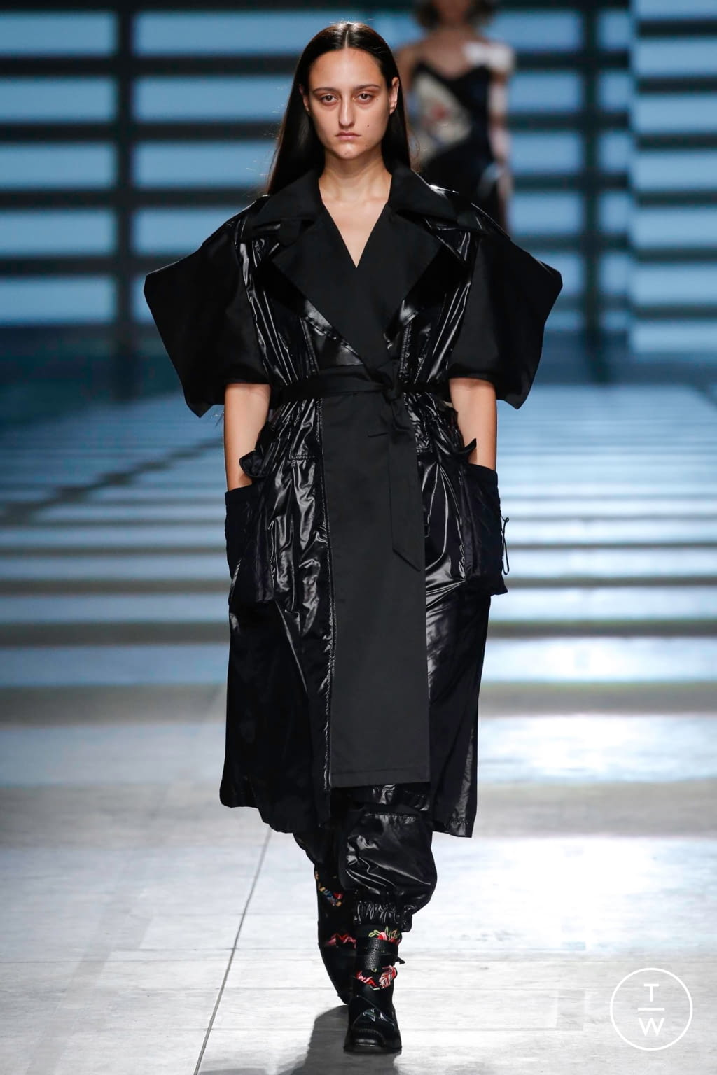 Fashion Week London Spring/Summer 2020 look 7 from the Preen by Thornton Bregazzi collection womenswear