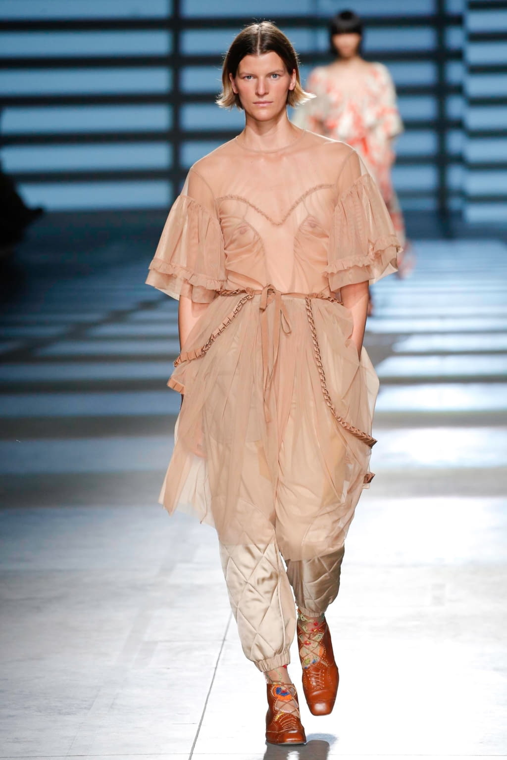 Fashion Week London Spring/Summer 2020 look 21 from the Preen by Thornton Bregazzi collection womenswear