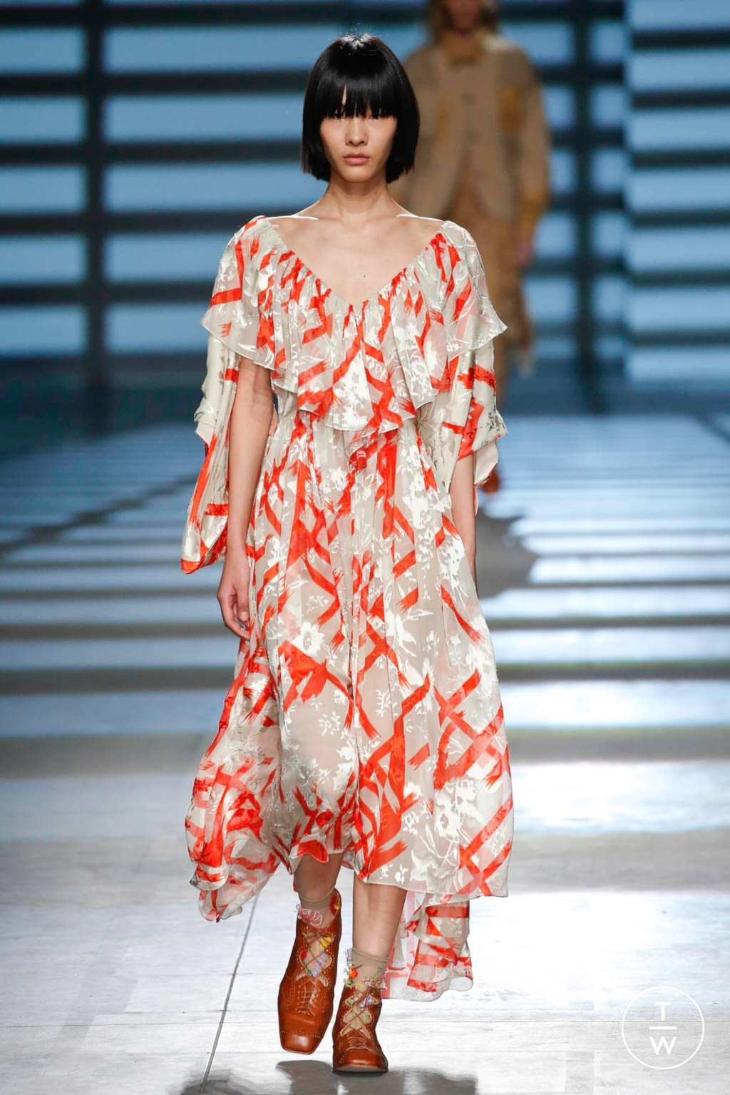 Fashion Week London Spring/Summer 2020 look 22 from the Preen by Thornton Bregazzi collection womenswear