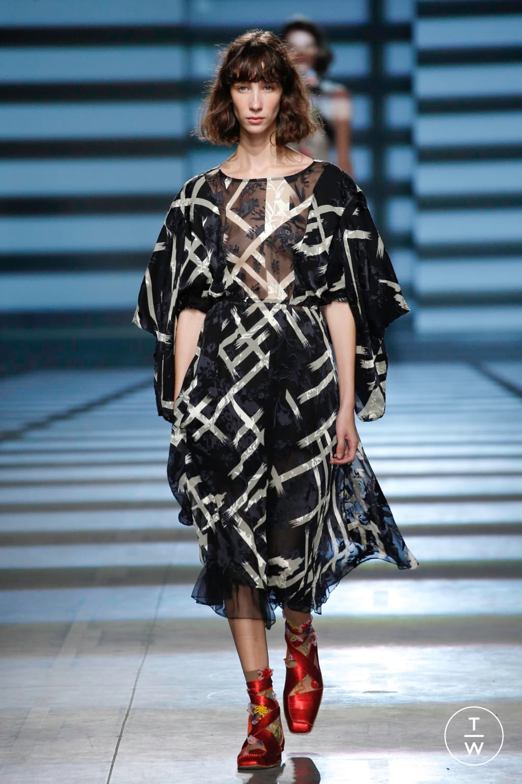 Fashion Week London Spring/Summer 2020 look 26 from the Preen by Thornton Bregazzi collection womenswear