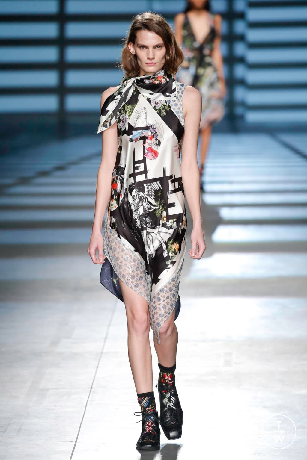 Fashion Week London Spring/Summer 2020 look 27 from the Preen by Thornton Bregazzi collection womenswear