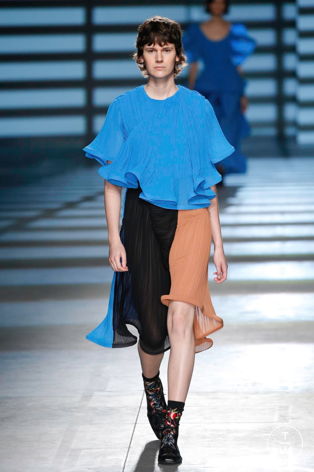 Fashion Week London Spring/Summer 2020 look 38 from the Preen by Thornton Bregazzi collection womenswear