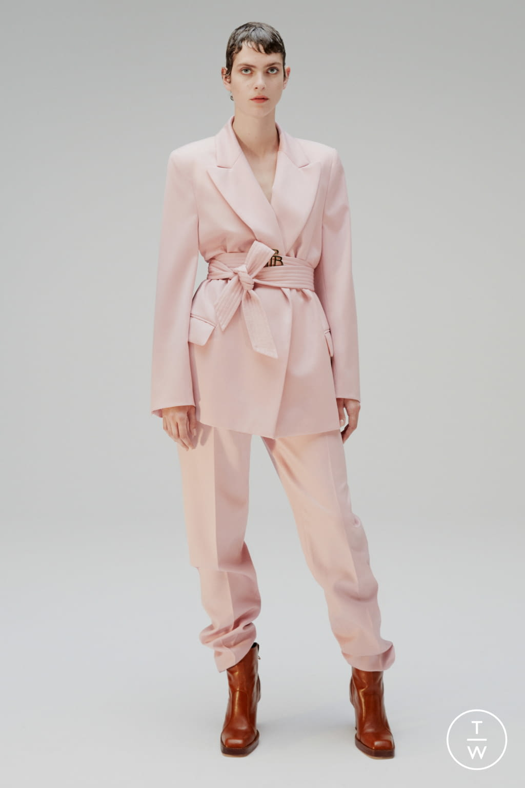 Fashion Week London Resort 2020 look 2 from the Preen by Thornton Bregazzi collection womenswear