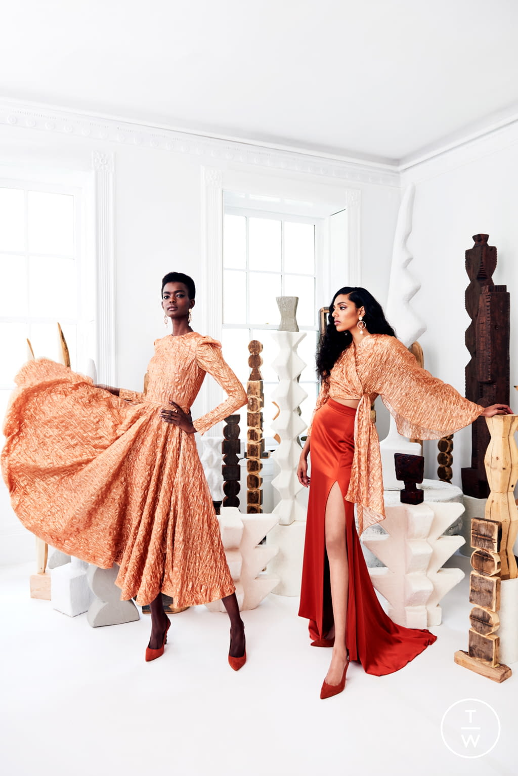 Fashion Week New York Resort 2020 look 10 from the Christian Siriano collection womenswear