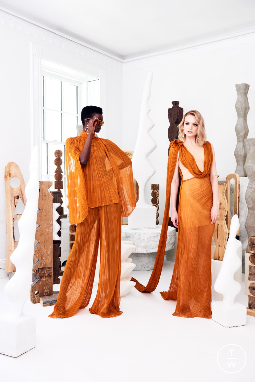 Fashion Week New York Resort 2020 look 2 from the Christian Siriano collection womenswear