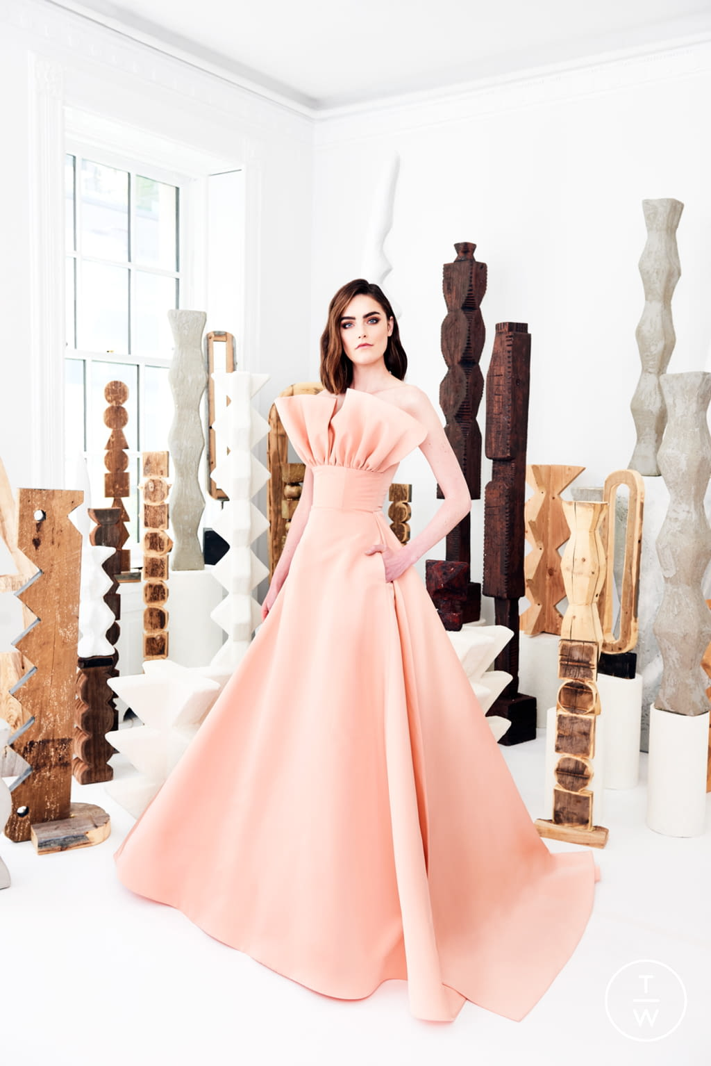 Fashion Week New York Resort 2020 look 28 from the Christian Siriano collection womenswear