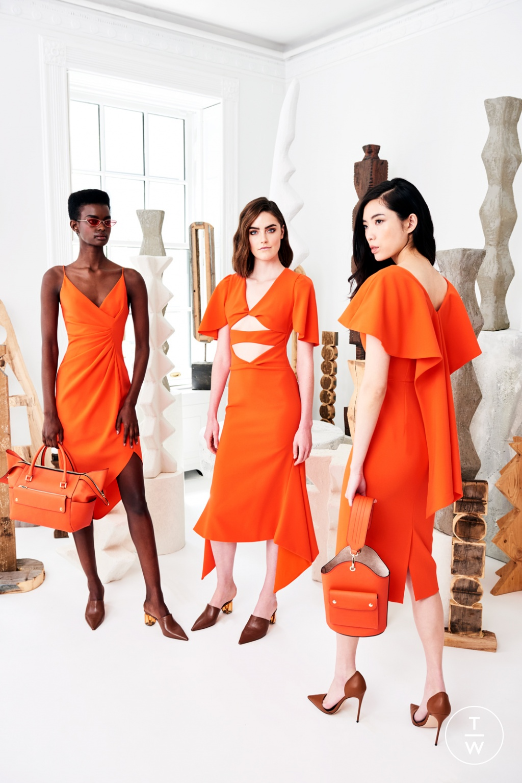 Fashion Week New York Resort 2020 look 3 from the Christian Siriano collection womenswear