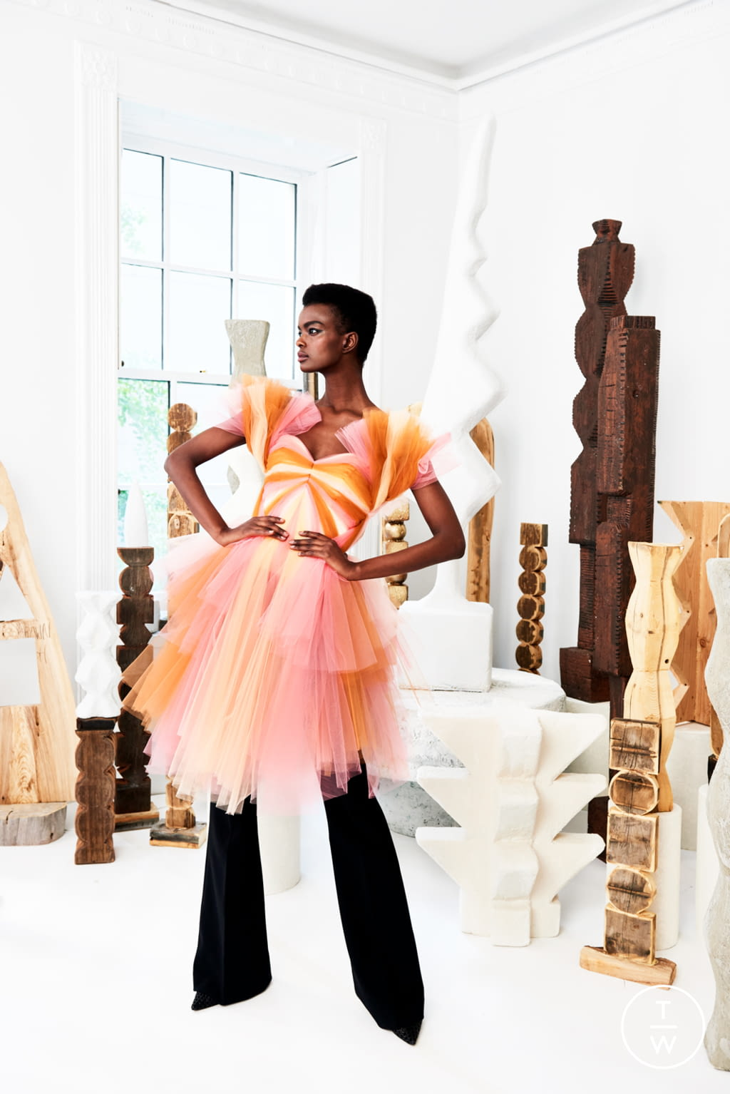 Fashion Week New York Resort 2020 look 33 from the Christian Siriano collection womenswear