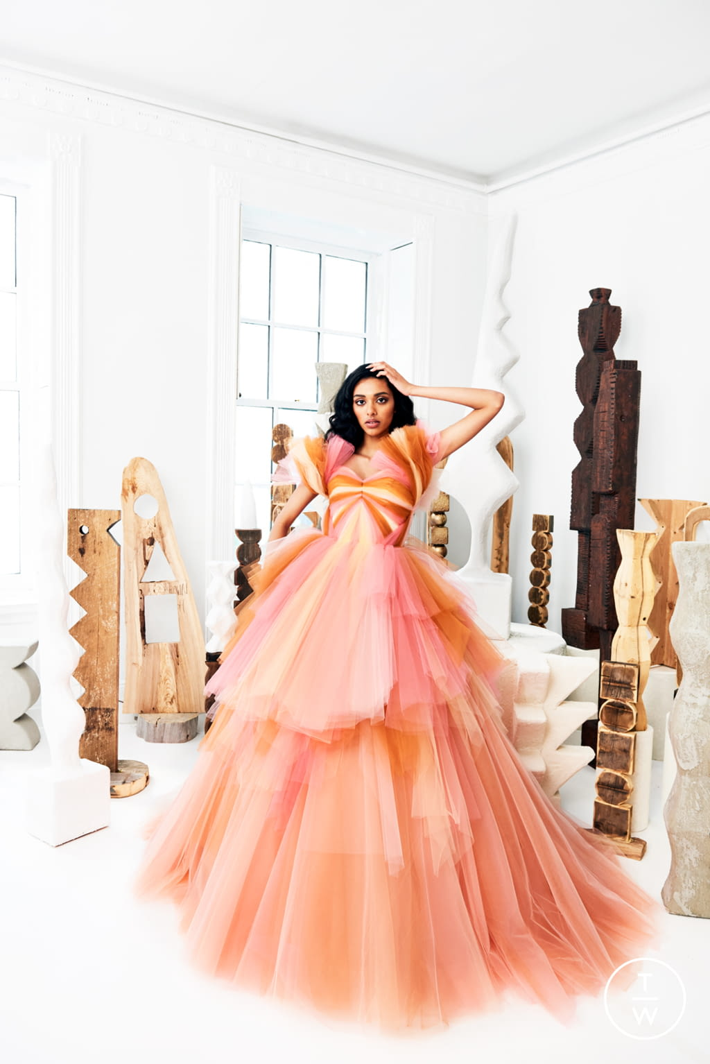 Fashion Week New York Resort 2020 look 34 from the Christian Siriano collection womenswear