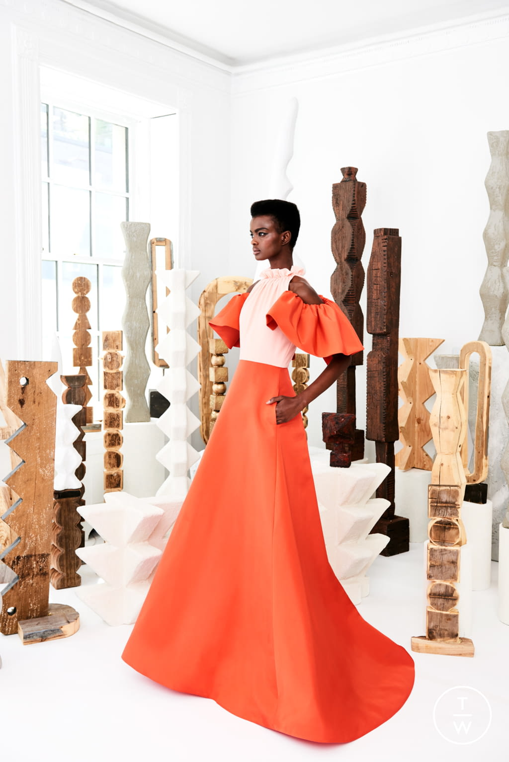 Fashion Week New York Resort 2020 look 5 from the Christian Siriano collection womenswear