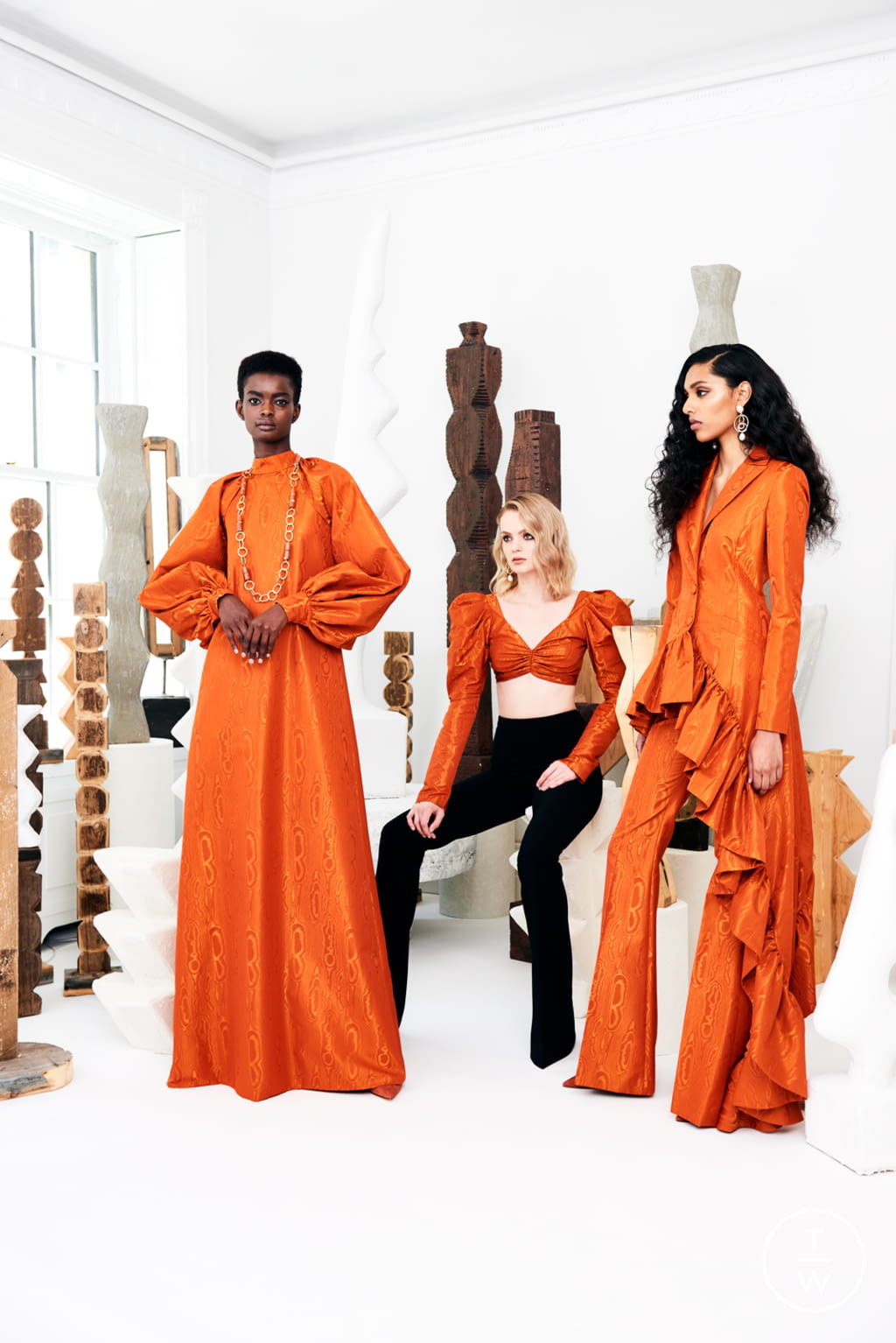 Fashion Week New York Resort 2020 look 6 from the Christian Siriano collection womenswear