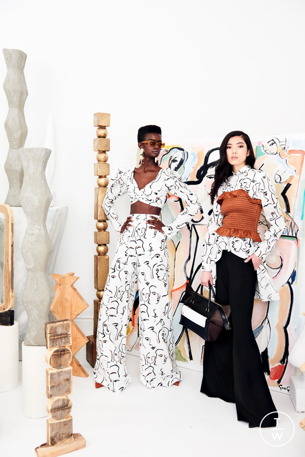 Fashion Week New York Resort 2020 look 7 from the Christian Siriano collection womenswear