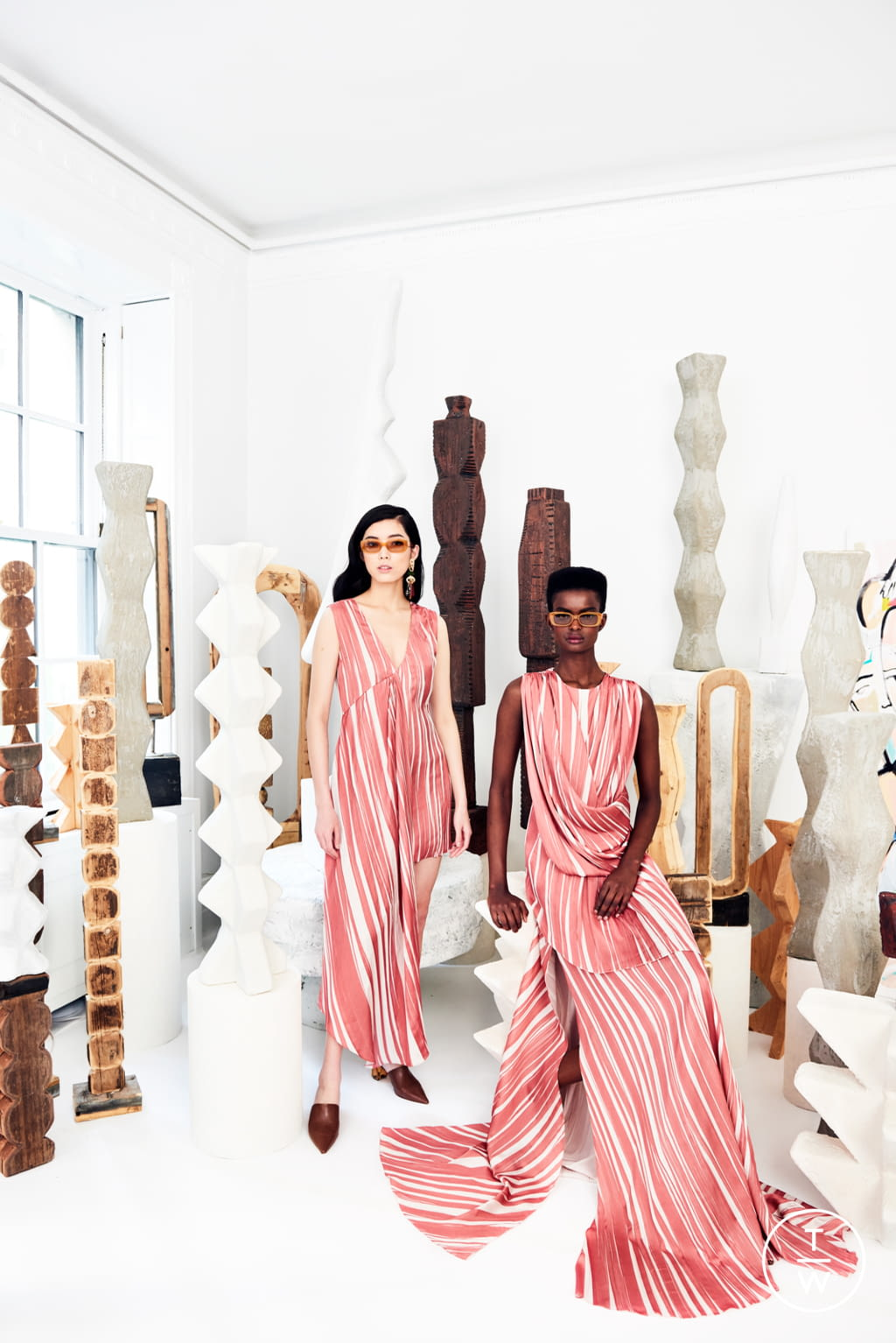 Fashion Week New York Resort 2020 look 9 from the Christian Siriano collection womenswear