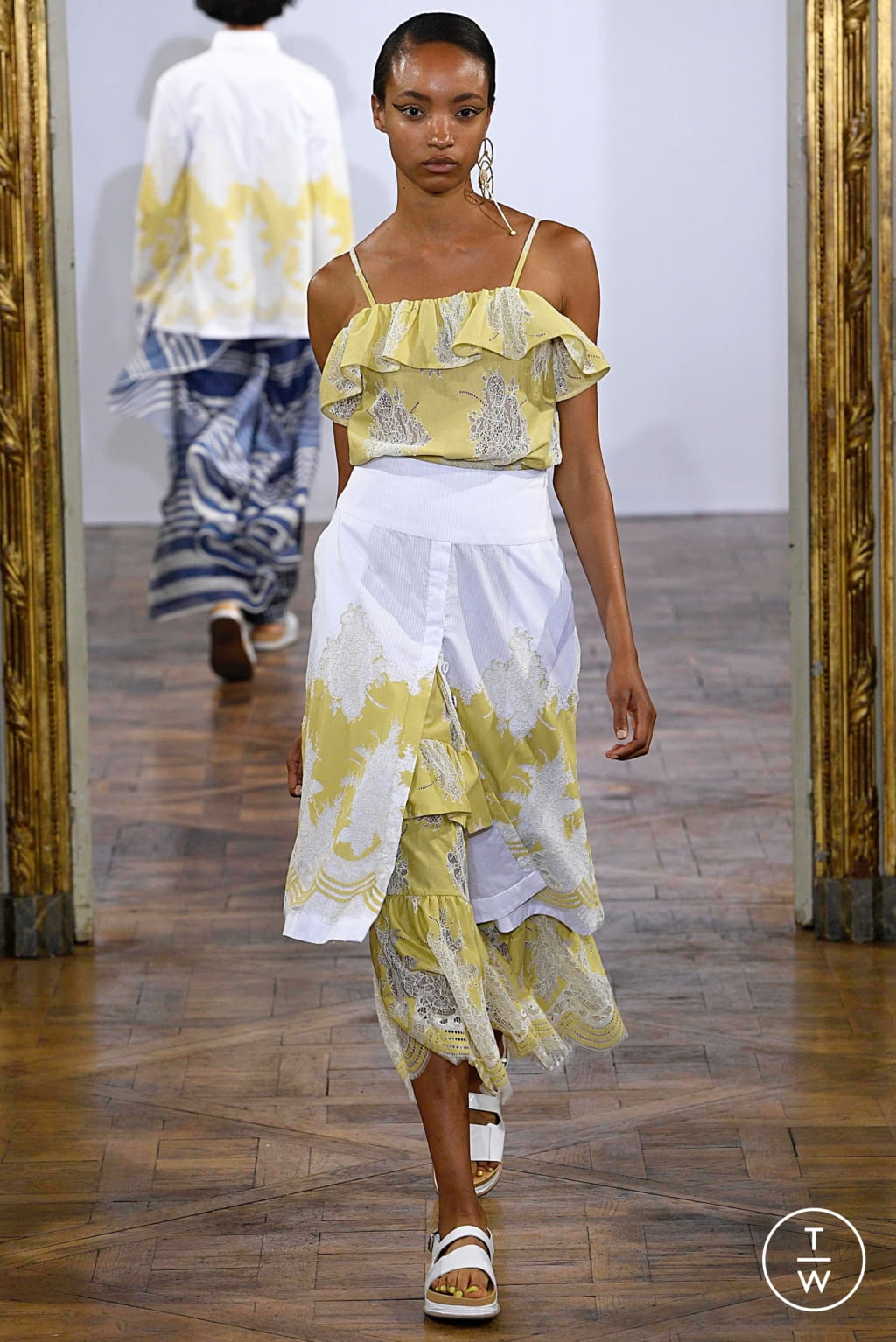 Fashion Week Paris Spring/Summer 2019 look 19 from the Rahul Mishra collection womenswear