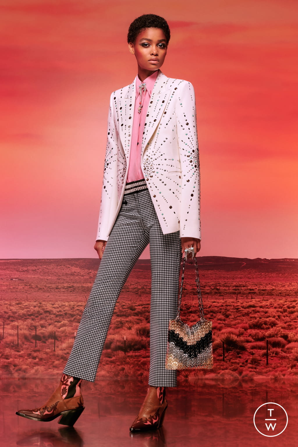 Fashion Week Paris Resort 2020 look 10 de la collection Paco Rabanne womenswear