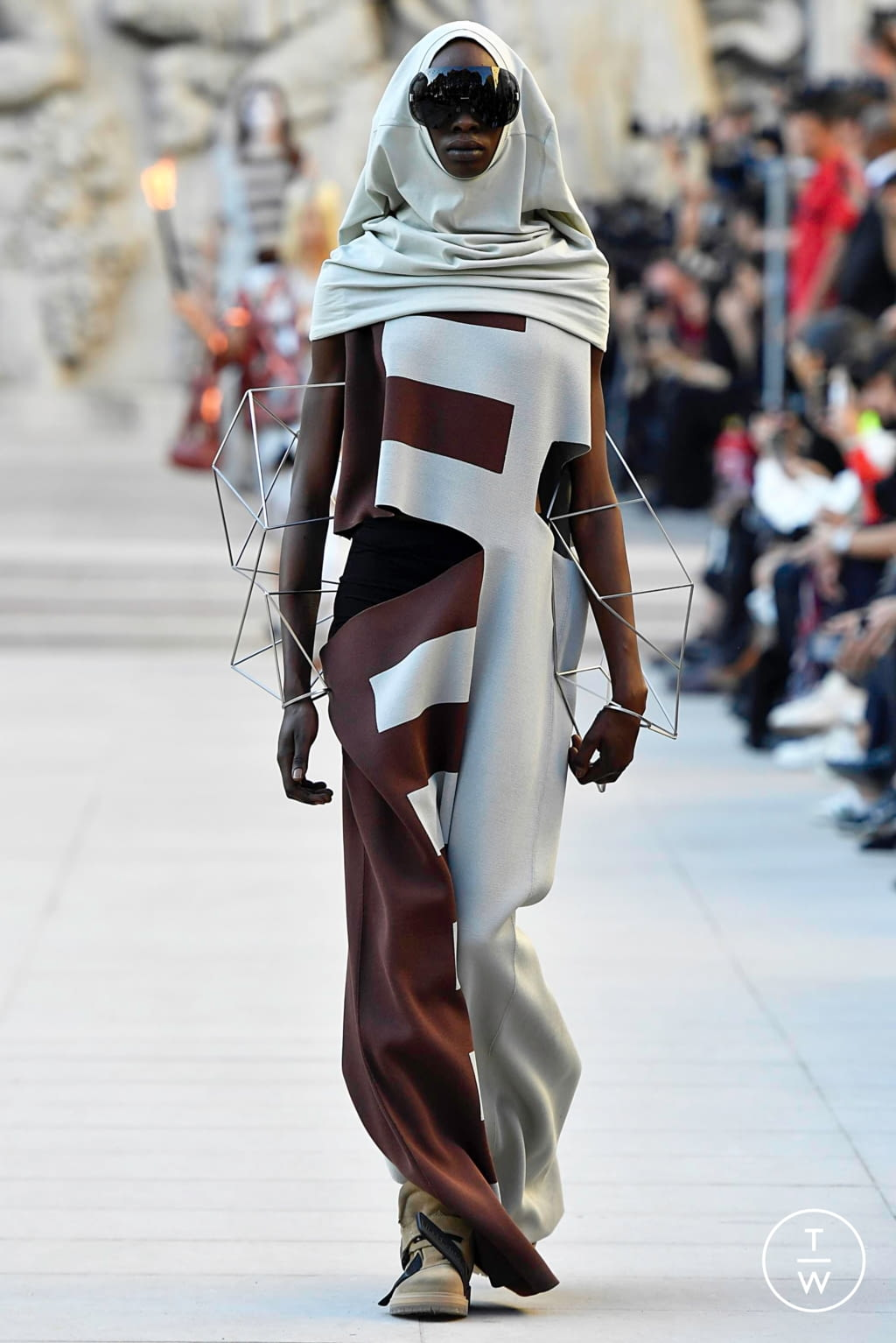 Fashion Week Paris Spring/Summer 2019 look 24 from the Rick Owens collection womenswear