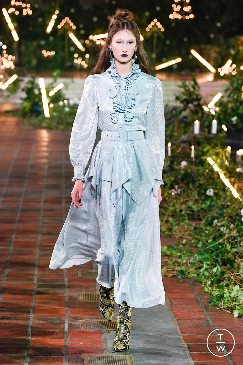 Fashion Week New York Fall/Winter 2020 look 7 de la collection Rodarte womenswear
