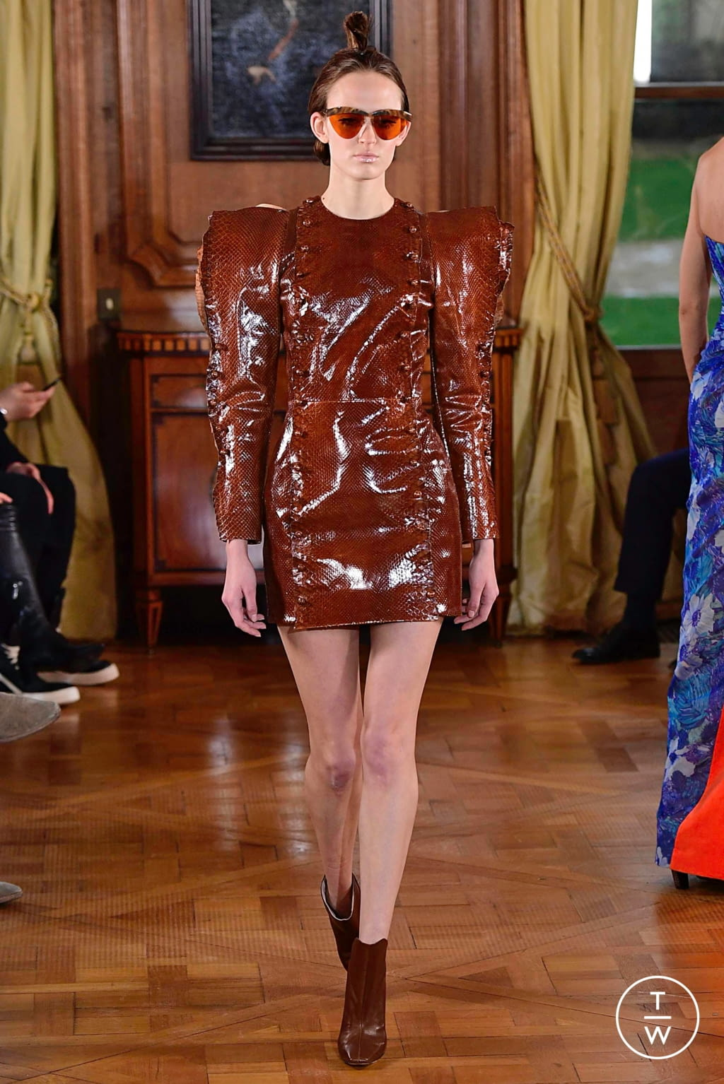 Fashion Week Paris Spring/Summer 2019 look 12 from the Ronald Van Der Kemp collection couture