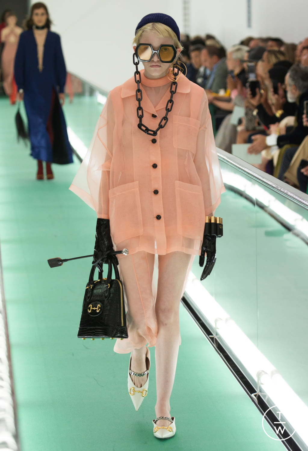 Fashion Week Milan Spring/Summer 2020 look 14 from the Gucci collection womenswear