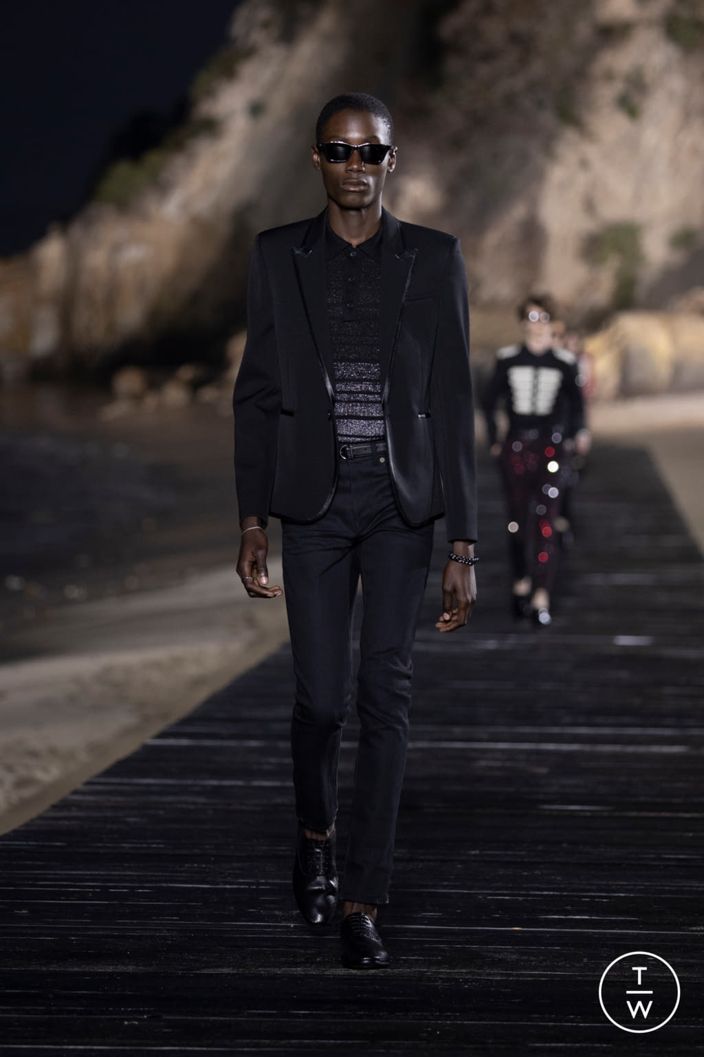 Fashion Week Paris Spring/Summer 2020 look 11 from the Saint Laurent collection menswear