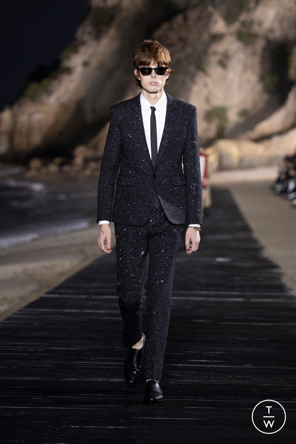 Fashion Week Paris Spring/Summer 2020 look 14 from the Saint Laurent collection menswear
