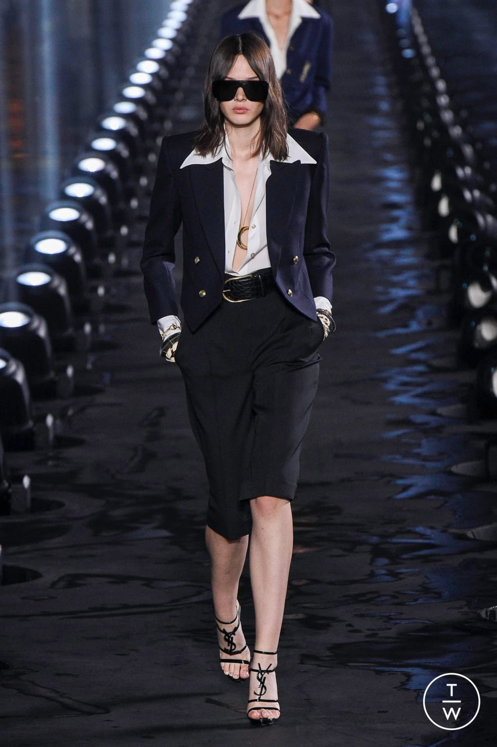 Fashion Week Paris Spring/Summer 2020 look 9 from the Saint Laurent collection womenswear